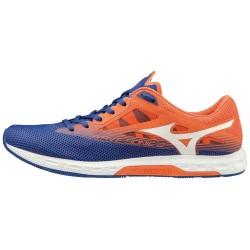 Zapatillas Mizuno Wave Sonic 2 naranja y azules