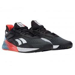 nuevas zapatillas reebok nano X negras, rojas y azules
